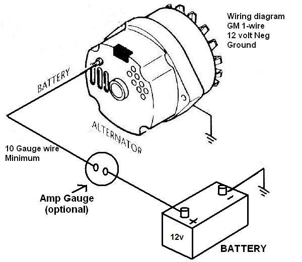 Gm One Wire Alternator Hook Up Circuit Diagrams
